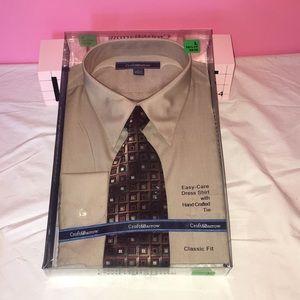Croft & Barrow Dress Shirt W/ Tie L 16 1/2-17